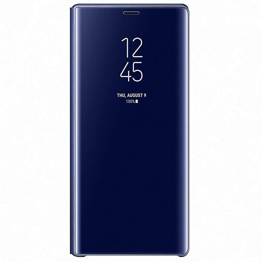 Samsung Note 9 Clear View Standing Kılıf  Lacivert
