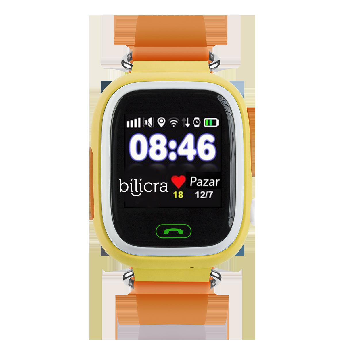 Bilicra Gps Akıllı Çocuk Saati (BLC101)  Sarı