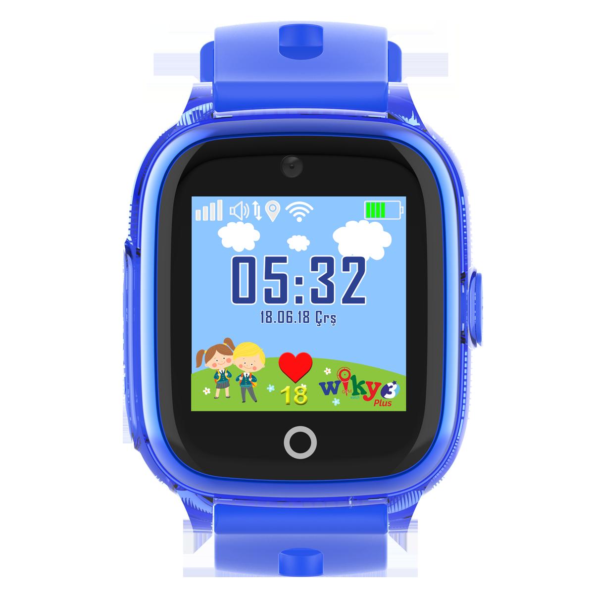 Wiky 3 Plus Akıllı Çocuk Saati 32 MB Mavi