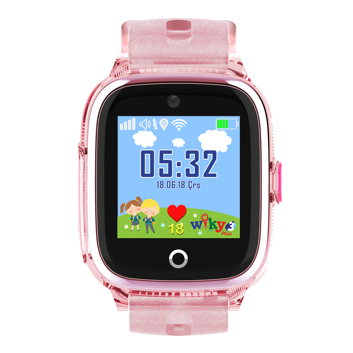 Wiky 3 Plus Akıllı Çocuk Saati 32 MB Pembe