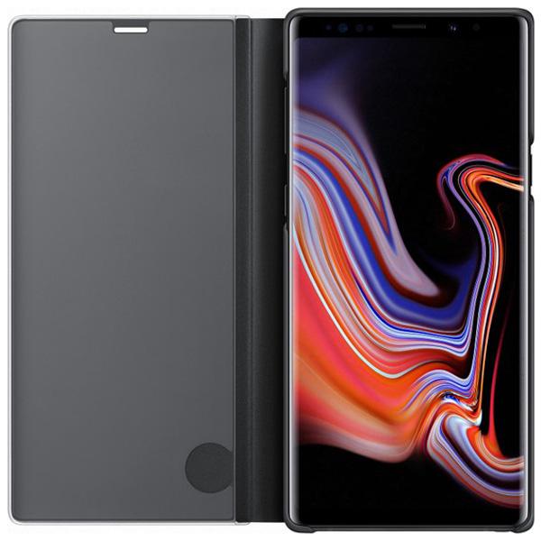 Samsung Note 9 Clear View Standing Kılıf  Siyah