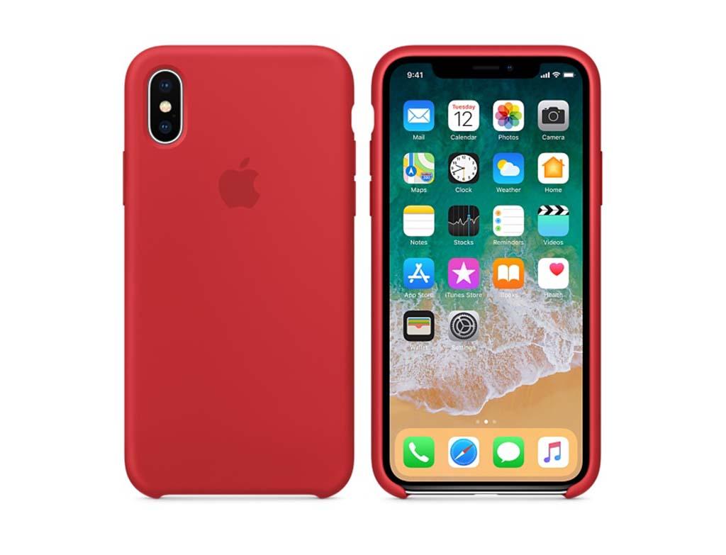 Apple MQT52ZM/A Iphone X Silikon Kılıf  Kırmızı