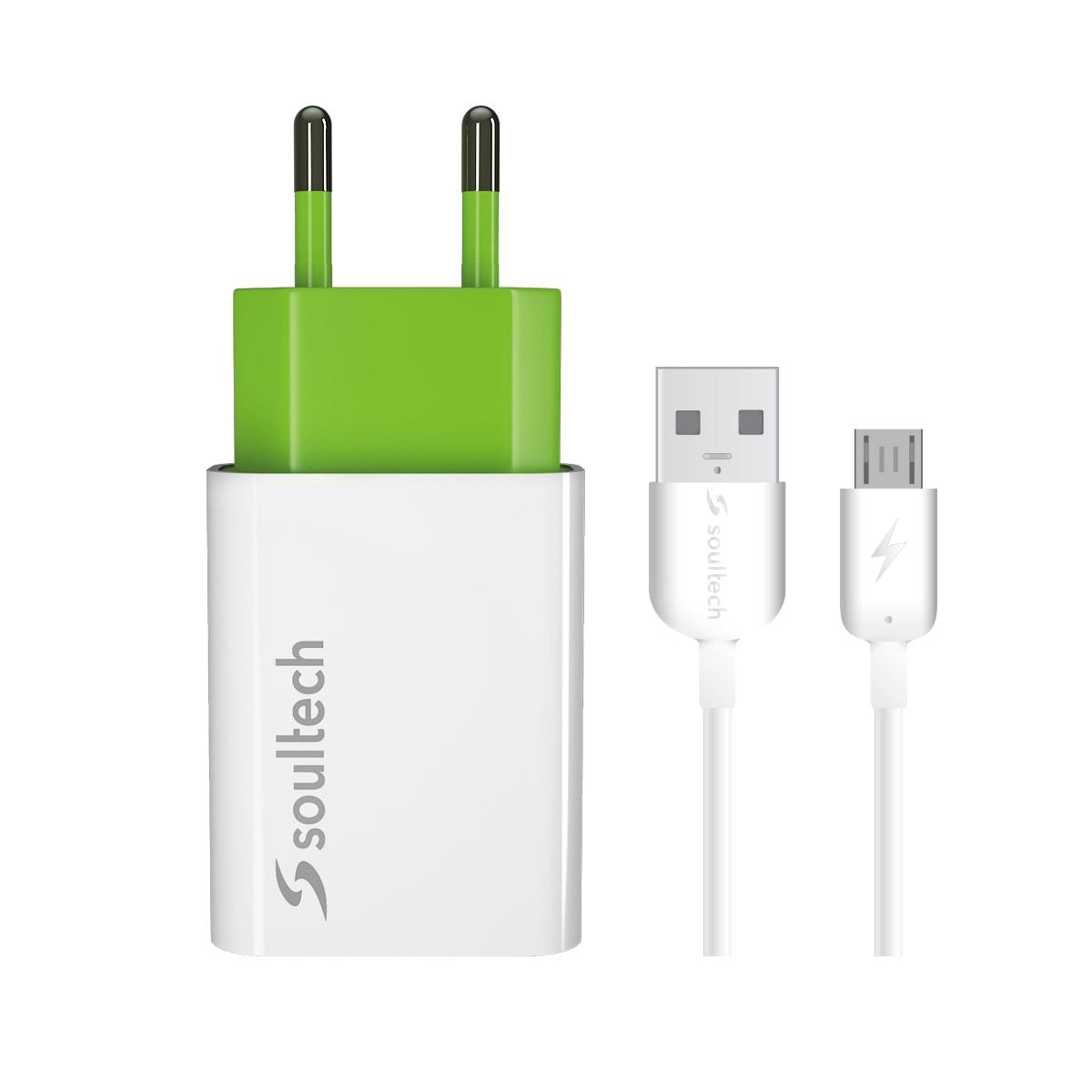 Soultech Comfort Hızlı Mıcro Usb Şarj+ Kablo SC212B  2.0 MAH  Beyaz