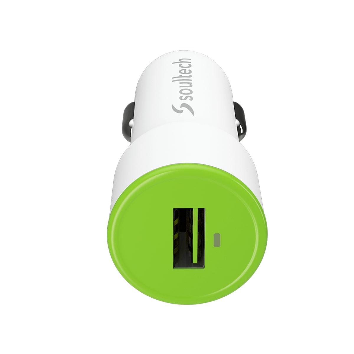 Soultech Comfort Micro Araç Şarj + Kablo SC323B  2.1 MAH  Beyaz