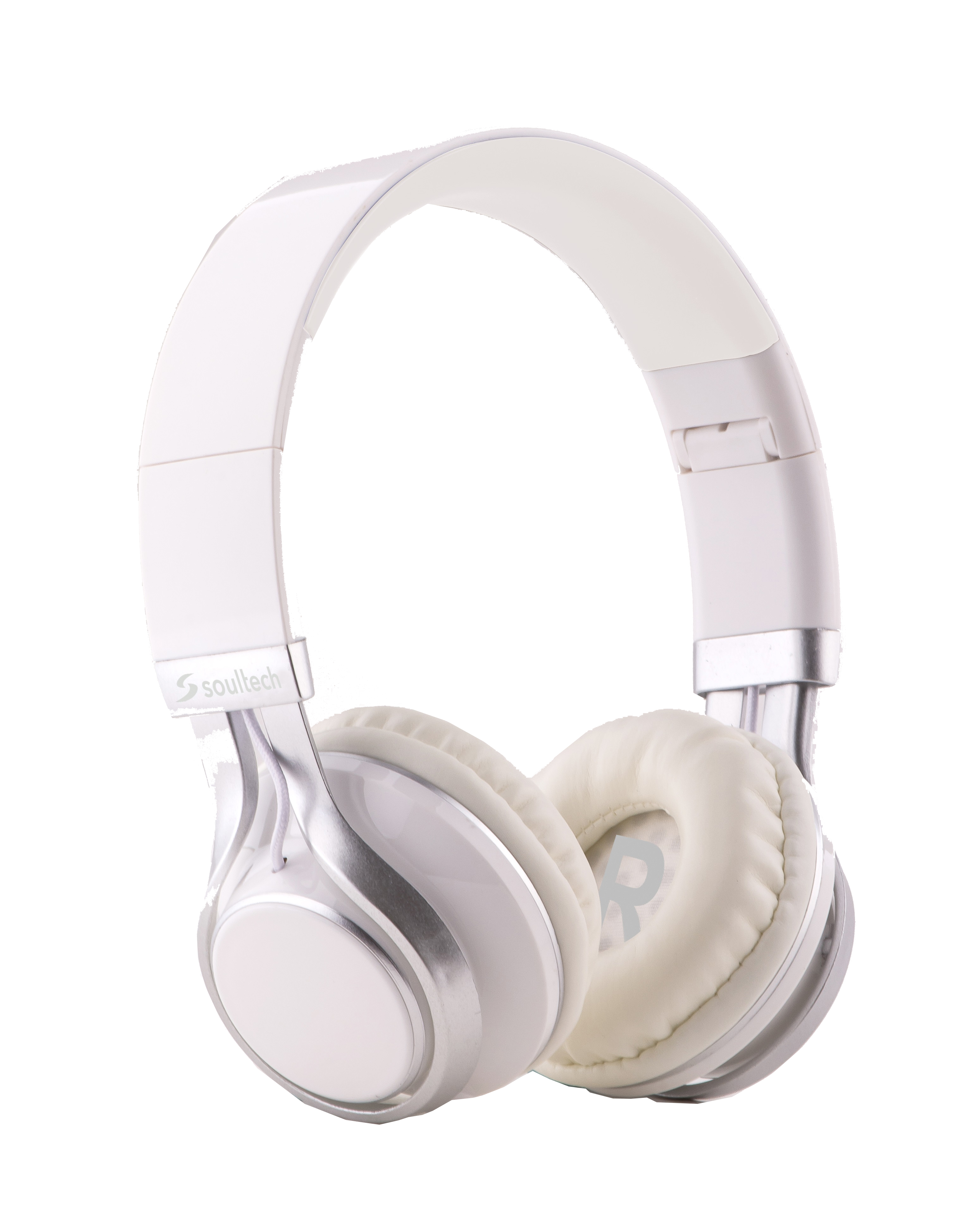 Soultech Soulbass (Mikrofonlu) Beyaz-Gümüş Solo Kulaklık SK203BG  Beyaz