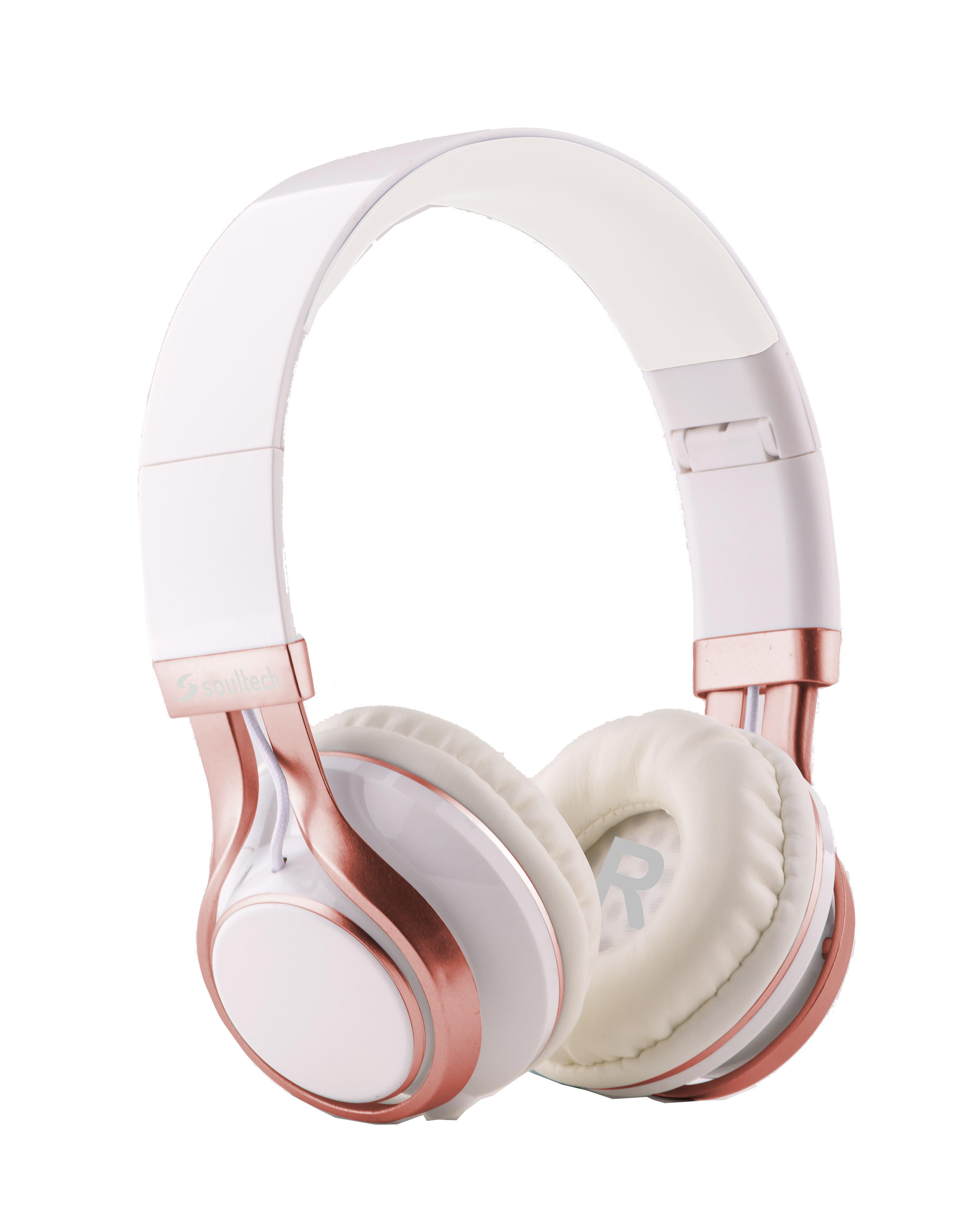 Soultech Soulbass (Mikrofonlu) Beyaz-Rosegold Solo Kulaklık SK203BR  Rose Gold