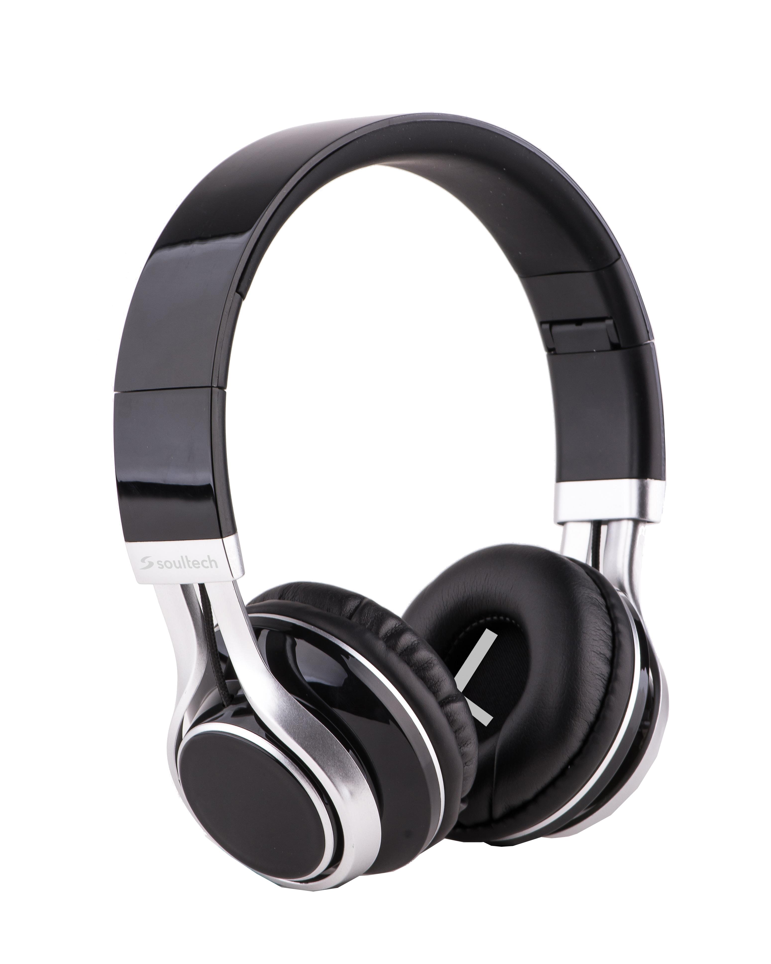 Soultech Soulbass (Mikrofonlu) Siyah-Gümüş Solo Kulaklık SK203SG  Siyah