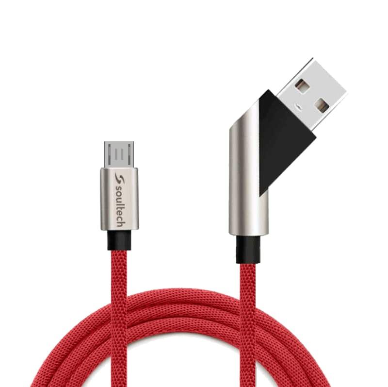 Soultech Taşınılabilir Fast 2.4 Micro Platinum Kablo DK027K  Kırmızı