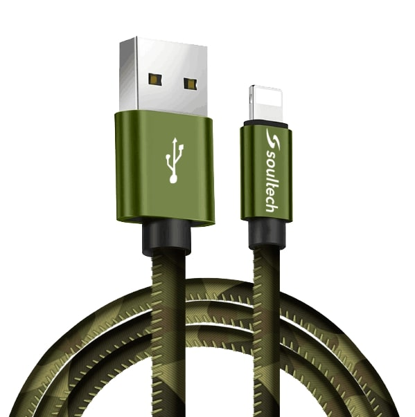 Soultech Army Metal Iphone 5/6/7/8 Platinum Kablo DK029  Yeşil