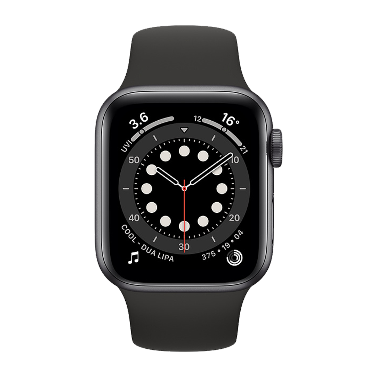 Apple Watch S6 40mm Sport Band Regular  Space Gray