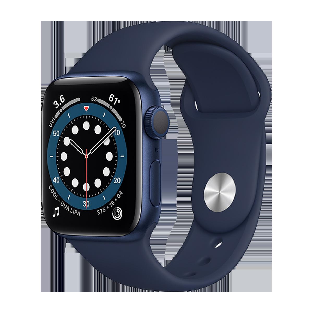 Apple Watch S6 40mm Sport Band Regular  Mavi