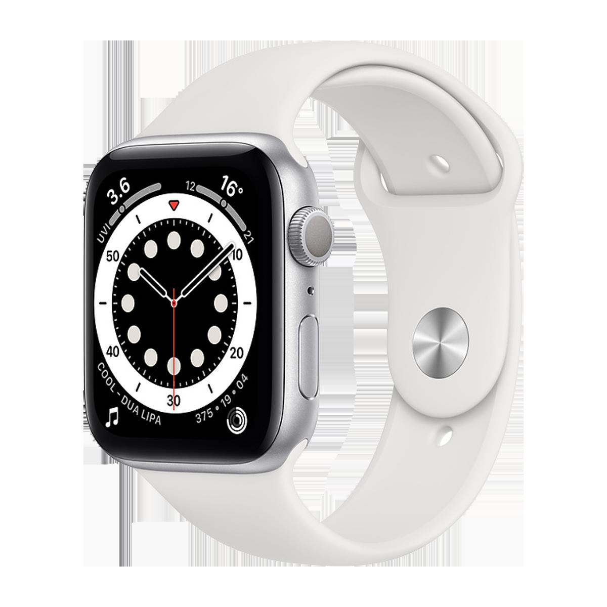 Apple Watch S6 44mm Sport Band Regular  Silver