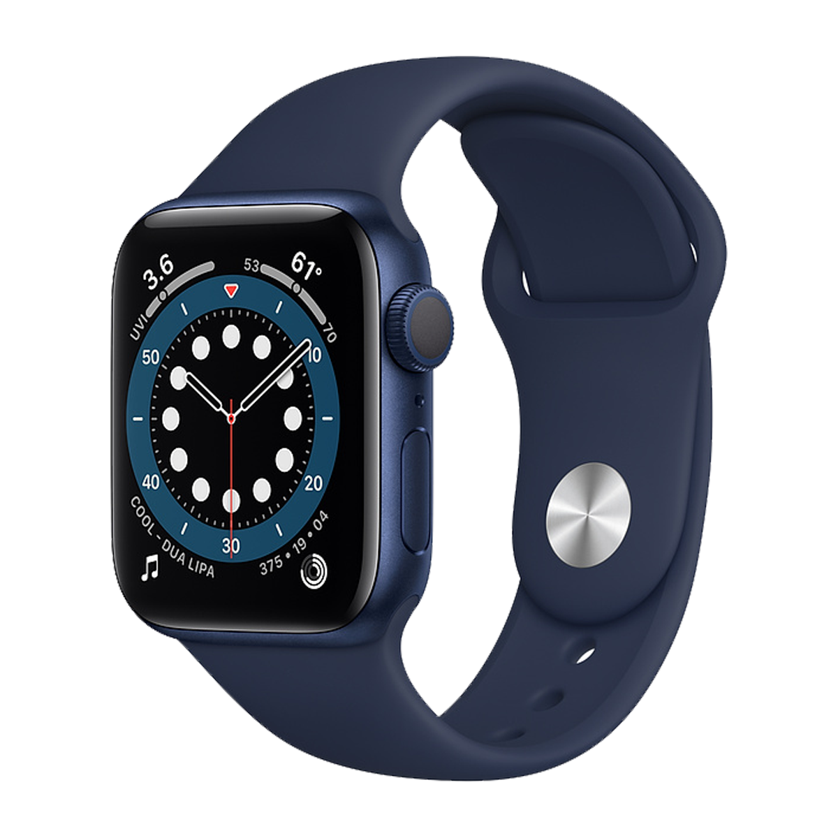 Apple Watch S6 44mm Sport Band Regular  Mavi