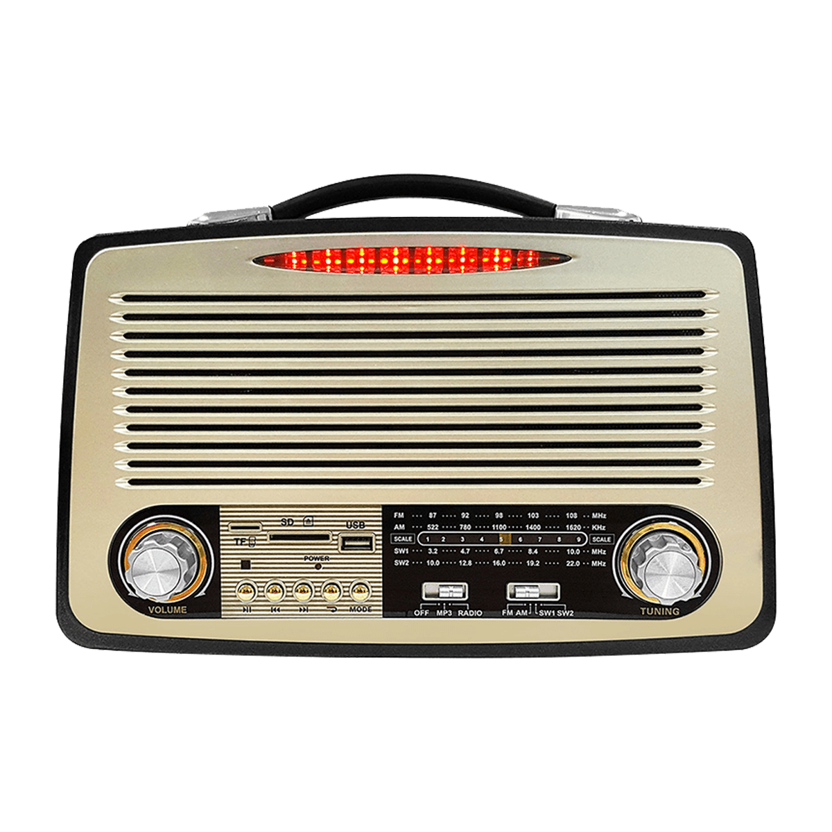 HomeTech HT 200BT Nostaljik Radyo Hoparlör  Kahverengi